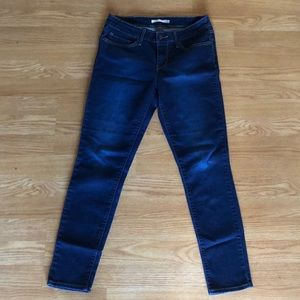Levi's dark denim 711 skinny jeans 29